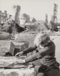 Photographs, Werner Bischof (Swiss, 1916-1954). Boy Drawing in the Ruins, Freiburg, Germany, June, 1946. Gelatin silver. 12 x 9-1/2 i...