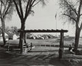 Photographs, Dorothea Lange (American, 1895-1965). Entrance to Kern County Migrant Camp, California, circa 1938. Gelatin silver. 7-7/...