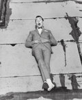 Photographs, Herb Ritts (American, 1952-2002). Pee Wee Herman on Roof, 1987. Gelatin silver, printed later. 18-5/8 x 15-1/4 inches (4...