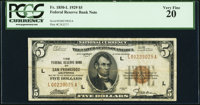 Fr. 1850-L $5 1929 Federal Reserve Bank Note. PCGS Very Fine 20