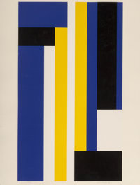Ilya Bolotowsky (1907-1981) Series 8, 1970 Screenprint in colors on paper 40 x 30-1/4 inches (101