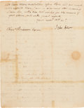 "Autographs:U.S. Presidents, John Adams Letter Signed ""John Adams."" Two page..."