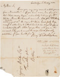 Autographs:Inventors, Benjamin Waterhouse Autograph Letter Signed. One page with...