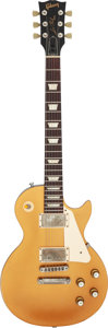 Musical Instruments:Electric Guitars, 2016 Gibson Les Paul Studio Goldtop Solid Body Electric Guitar, Serial #160002071.. ...