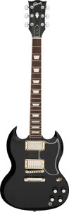 Musical Instruments:Electric Guitars, 2016 Gibson Les Paul SG '61 Reissue Black Solid Body Electric Guitar, Serial #160028747.. ...