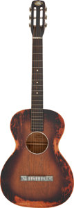 Musical Instruments:Acoustic Guitars, Circa 1940's Oahu Square Neck Sunburst Hawaiian-Style Acoustic Guitar.. ...