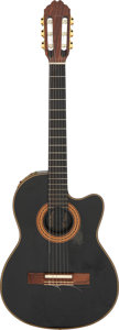 Musical Instruments:Electric Guitars, 1984 Gibson Chet Atkins CEC Black Classical Electric Guitar, Serial #80354603.. ...