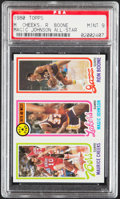 Basketball Cards:Singles (1980-Now), 1980 Topps Maurice Cheeks/Magic Johnson All-Star/Ron Boone PSA Mint 9....