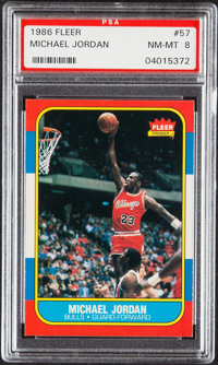 1986 Fleer Michael Jordan #57 PSA NM-MT 8