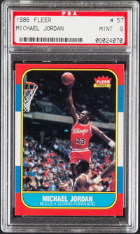 1986 Fleer Michael Jordan #57 PSA Mint 9