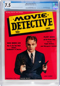 Magazines:Miscellaneous, Movie Detective #1 (Manhattan Fiction Publ., 1942) CGC VF- 7.5 Off-white pages....