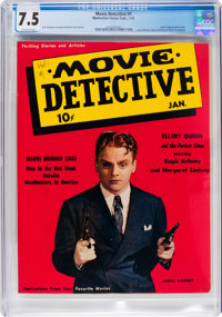 Movie Detective #1 (Manhattan Fiction Publ., 1942) CGC VF- 7.5 Off-white pages