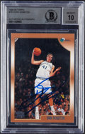 Basketball Cards:Singles (1980-Now), Signed 1998-99 Topps Dirk Nowitzki #154 BAS Autograph 10....