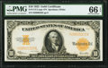 Large Size:Gold Certificates, Fr. 1173 $10 1922 Gold Certificate PMG Gem Uncirculated 66 EPQ.. ...