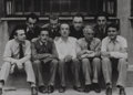 Photographs, Man Ray (American, 1890-1976). Nine Members of the Surrealist Group, circa 1926. Gelatin silver. 4-5/8 x 6-3/8 inches (1...