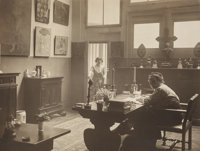 Man Ray (American, 1890-1976) Gertrude Stein and Alice B. Toklas in their rue de Fleurus Drawing Room