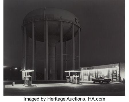George A. Tice (American, b. 1938) Petit's Mobil Gas Station, Cherry Hill, New Jersey, 1974 Gelatin silver 15-1/4 x 1...