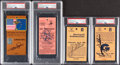 Golf Collectibles:Miscellaneous, Signed Golf Ticket Stubs, Lot of 4, PSA/DNA AU... (Total: 4 items)