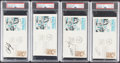 Autographs:Post Cards, Basketball Hall of Famers Signed First Day Covers, Lot of 4, PSA/DNA AU. ... (Total: 4 items)