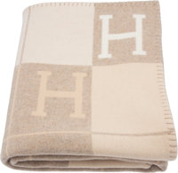 "Hermès Coco & Camomille Avalon III Blanket Condition: 1 53"" Width x 67"" Length"
