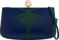 Luxury Accessories:Bags, Hermès Navy Blue Calf Box Leather & Emerald Lizard Palm T...