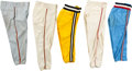Baseball Collectibles:Others, 1970-86 Game Worn Baseball Pants Lot of 5. Offere...