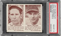Baseball Cards:Singles (1940-1949), 1941 Double Play Paul Derringer-Bucky Walters #7/8 PSA NM-MT 8 - Only One Higher. ...