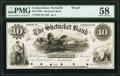 Norwich, CT- Shetucket Bank $10 18__ as G10a Proof PMG Choice About Unc 58