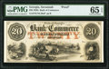 Obsoletes By State:Georgia, Savannah, GA- Bank of Commerce $20 18__ as G10b Proof PMG Gem Uncirculated 65 EPQ.. ...