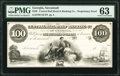 Savannah, GA- Central Rail Road and Banking Co. of Georgia $100 18__ UNL Proprietary Proof PMG Choice Uncirculated 63...