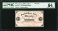 Milwaukee, WI- Valentin Blatz at Second Ward Bank 10¢ ND (ca. 1862) Krause UNL Proof PMG Choice Uncirculated.&l...