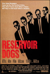"Reservoir Dogs (Miramax, 1992). Rolled, Very Fine. One Sheet (27"" X 40"") SS. Crime. From the Collection of Fra..."