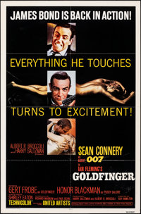"Goldfinger (United Artists, R-1980). Folded, Fine/Very Fine. One Sheet (27"" X 41""). James Bond"