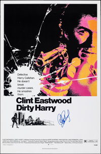 Dirty Harry (Warner Bros., 1980s). Rolled, Very Fine-. Autographed Official Warner Bros. Reproduction One Sheet (26.5&qu...
