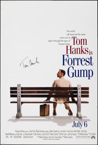 """Forrest Gump (Paramount, 1994). Rolled, Very Fine-. Autographed One Sheet (26.75"""" X 39.75"""") SS. Comedy"""