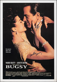 "Bugsy & Other Lot (1990s). Rolled, Very Fine-. Autographed Commercial Poster (26"" X 37.75"") & One Shee..."