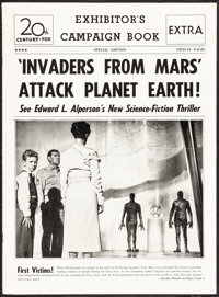 """Invaders from Mars (20th Century Fox, 1953). Folded, Very Fine-. Uncut Pressbook (12 Pages, 11"""" X 15"""") with He..."""
