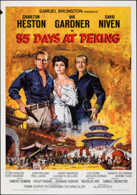 55 Days at Peking & Other Lot (Allied Artists, 1963). Folded, Very Fine. Autographed One Sheet & One Sheet (27&q...