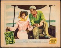 """The African Queen (United Artists, 1952). Fine+. Lobby Card (11"""" X 14""""). Adventure"""