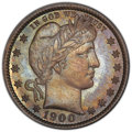 Proof Barber Quarters: , 1900 25C PR66 PCGS. PCGS Population: (27/10 and 1/1+). NGC Census: (40/23 and 0/0+). CDN: $1,300 Whsle. Bid for NGC/PCGS PR...