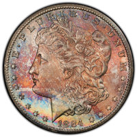 1884-CC $1 MS66+ PCGS. CAC. PCGS Population: (2078/138 and 361/10+). NGC Census: (913/150 and 69/11+). CDN: $550 Whsle...