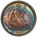 Seated Half Dimes, 1837 H10C No Stars, Large Date (Curl Top 1) MS65 PCGS. PCGS Population: (68/36 and 0/2+). NGC Census: (111/88 and 4/1+). CD...