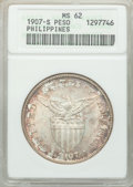 Philippines: USA Administration Peso 1907-S MS62 ANACS