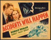 """Accidents Will Happen (Warner Bros., 1938). Very Fine+. Linen Finish Title Lobby Card (11"""" X 14""""). Crime"""