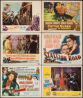 """Movie Posters:Western, Law and Order & Other Lot (Universal International, 1953). Overall: Very Fine-. Title Lobby Cards (2) & Lobby Cards (4) (11""""... (Total: 6 Items)"""