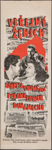 """Movie Posters:Comedy, Love is News (20th Century Fox, 1937). Folded, Very Fine-. Czech Poster (12.25"""" X 35""""). Comedy.. ..."""