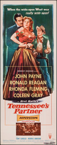 """Movie Posters:Western, Tennessee's Partner (RKO, 1955). Rolled, Very Fine-. Insert (14"""" X 36""""). Western.. ..."""