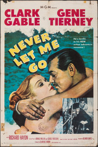 """Never Let Me Go & Other Lot (MGM, 1953). Folded, Fine. One Sheets (2) (27"""" X 41""""). Adventure. ... (Total:..."""