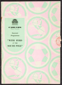 "With Byrd at the South Pole (Paramount, 1930). Fine/Very Fine. Program (36 Pages, 6.5"" X 9.25"") & Photos (..."