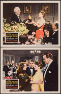 """Movie Posters:Academy Award Winners, All About Eve (20th Century Fox, 1950). Very Fine-. Lobby Cards (2) (11"""" X 14""""). Academy Award Winners.. ... (Total: 2 Items)"""